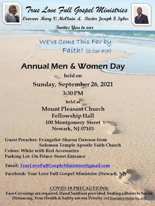 Annual Men & Women Day, 26 September | Event in Newark | AllEvents.in