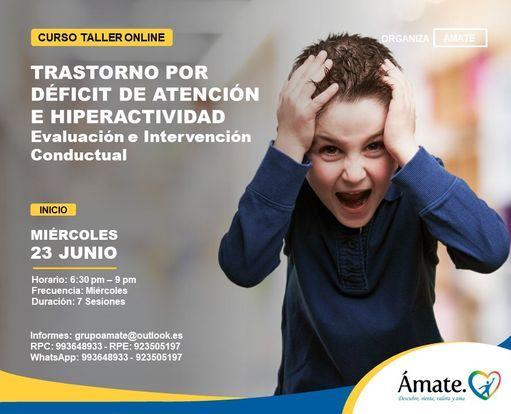 Curso Online:Trastorno por Déficit de Atención e Hiperactividad-Evaluación e Intervención conductual, 9 June