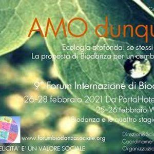 Amo dunque sono 9Forum Int.le di Biodanza sociale e clinica
