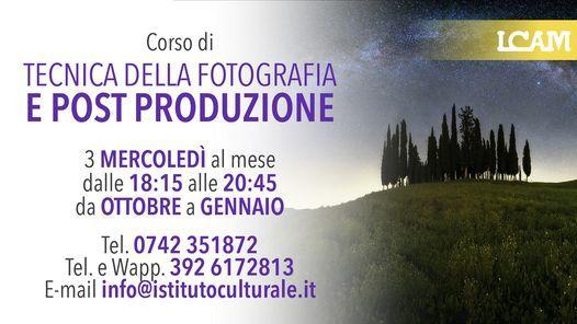 CORSO DI TECNICA DELLA FOTOGRAFIA E POST PRODUZIONE, 27 October | Event in Foligno | AllEvents.in