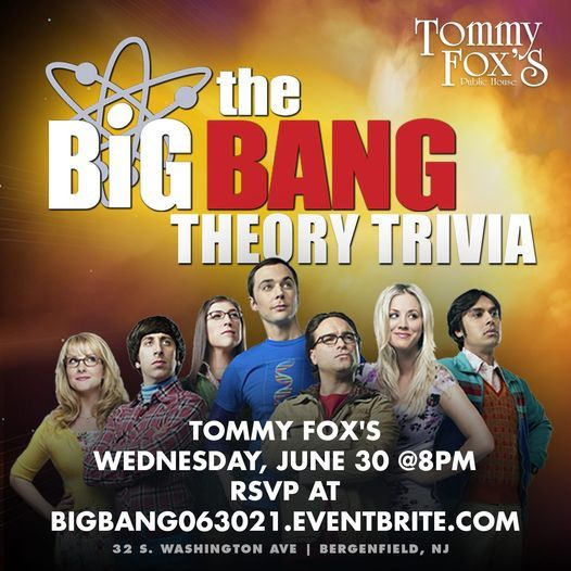 The Big Bang Theory Trivia, 30 June   Event in Bergenfield   AllEvents.in