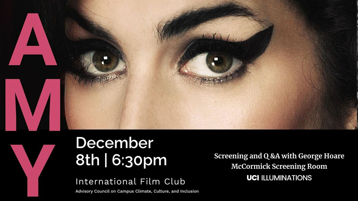 International Film Club - Amy (Asif Kapadia, 2015), 8 December | Event in Irvine | AllEvents.in