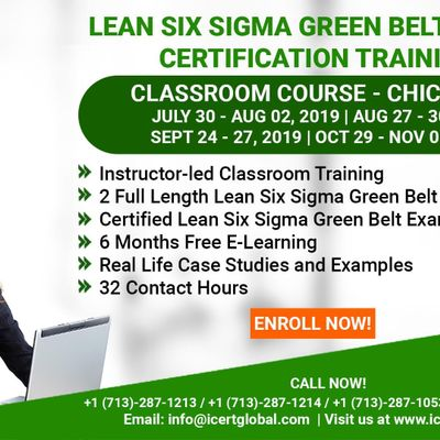 Lean Six Sigma Green Belt Certification Training Course in Chicago ILUSA.