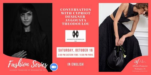 Conversation with Cypriot designer Avgousta Theodoulou, 16 October | Online Event | AllEvents.in