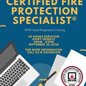 Certified Fire Protection Specialist CFPS Training