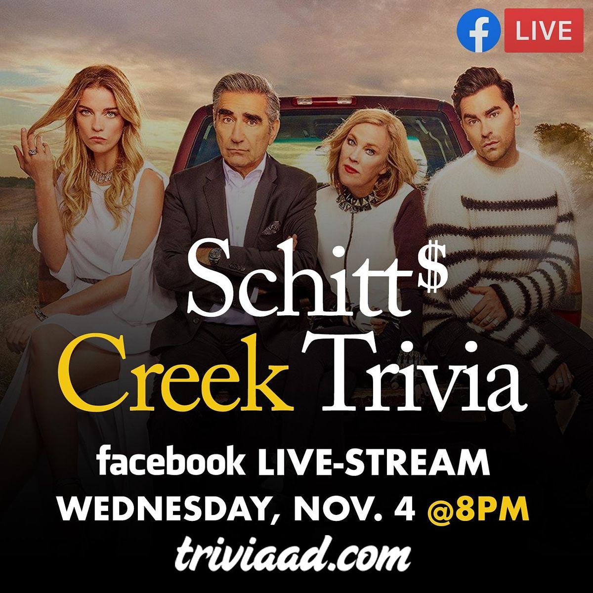 Schitt's Creek Trivia Live-Stream, 4 November | Online Event | AllEvents.in