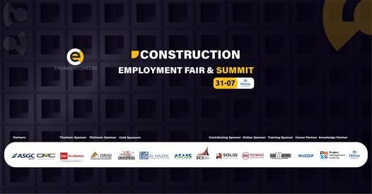 Construction Employment Fair & Summit, 31 July   Event in Helwan   AllEvents.in