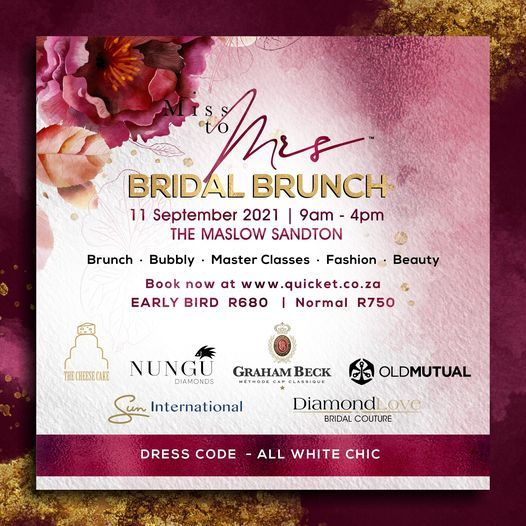 Miss To Mrs Bridal Brunch, 11 September | Event in Rivonia | AllEvents.in