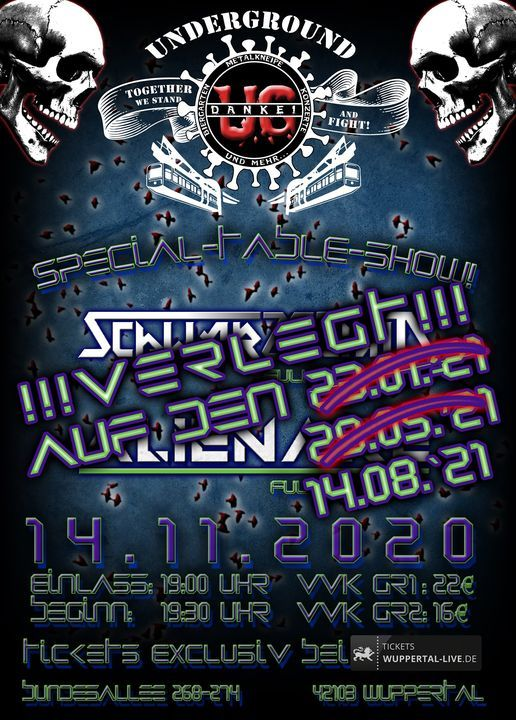 Verlegt!!! Special Table Show! Schwarzschild & Alienare - LIVE!, 29 May   Event in Wuppertal   AllEvents.in