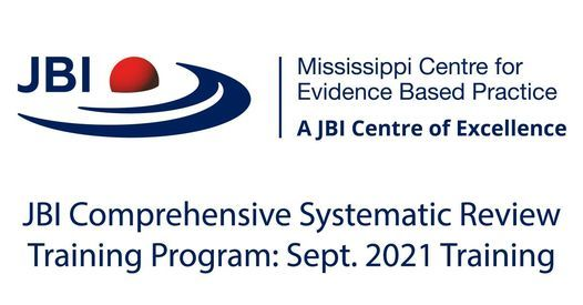 JBI Comprehensive Systematic Review Training Program   Event in Jackson   AllEvents.in