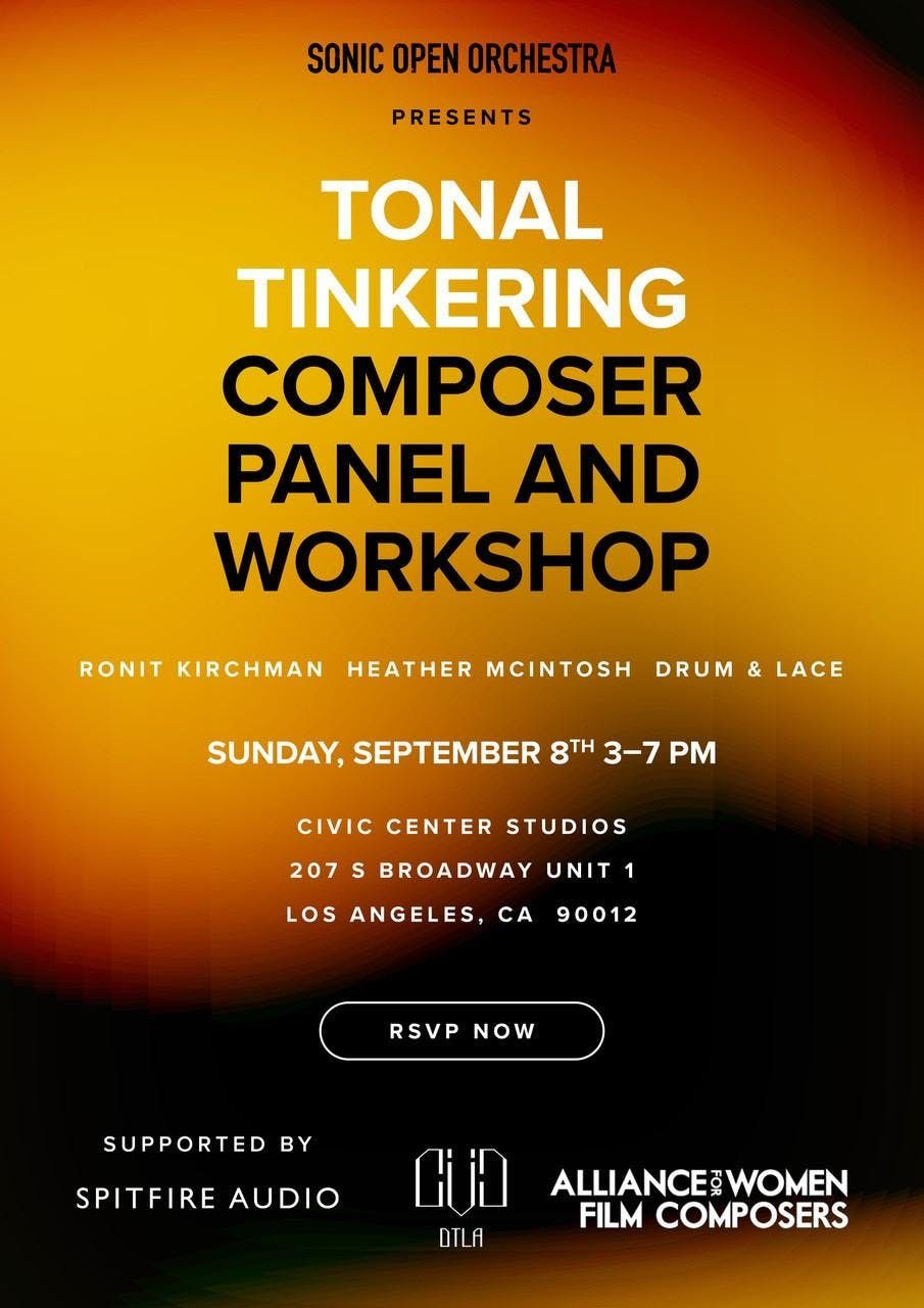 Tonal Tinkering - Composer Panel / Workshop (SOO & Spitfire