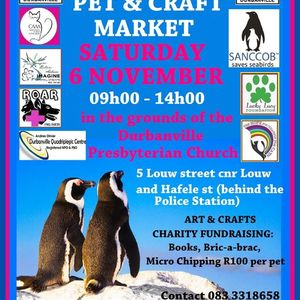 DURBANVILLE PET AND CRAFT MARKET- MONTHLY CRAFT AND CHARITY MARKET