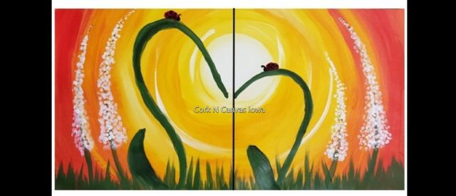 Online painting - Mother's Day Mommy & Me - CorknCanvasIowa, 9 May | Online Event | AllEvents.in