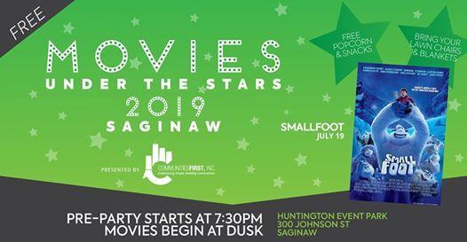 Saginaw Small Foot Movies Under The Stars