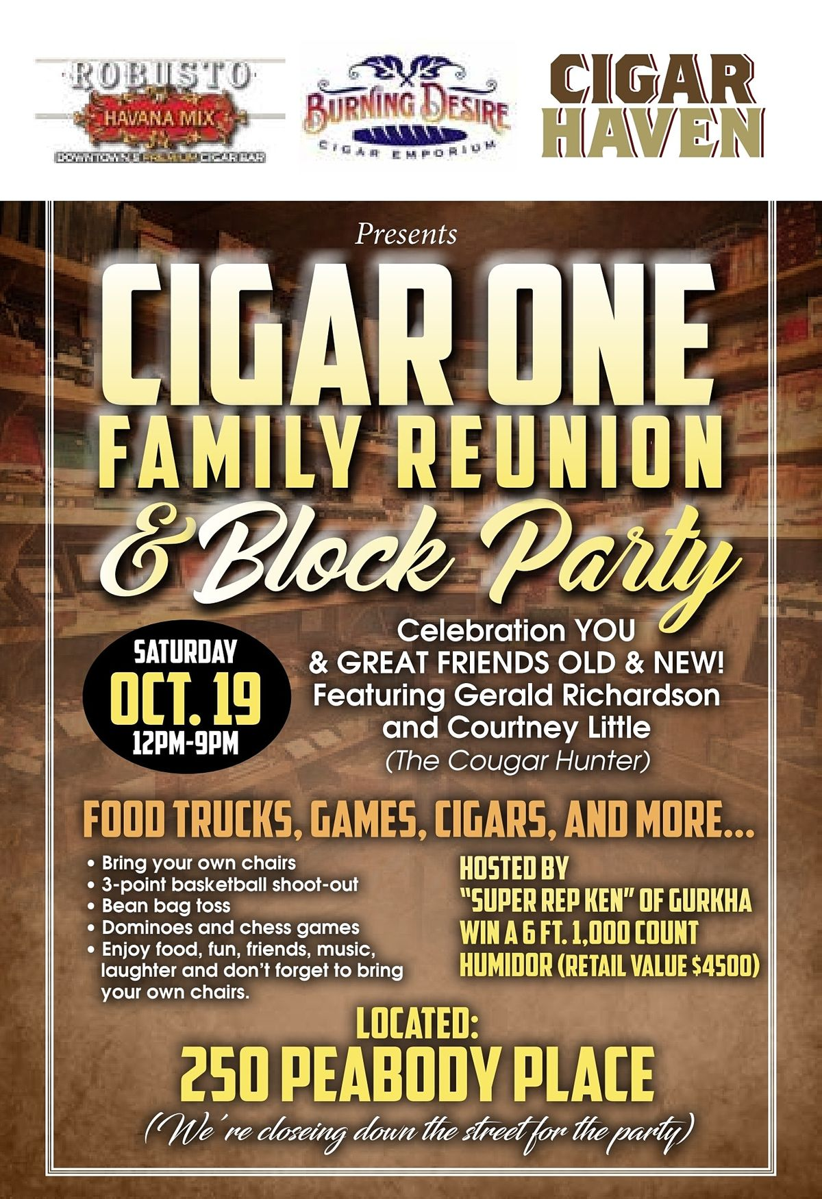 CIGAR ONE FAMILY REUNION, 23 October   Event in Memphis   AllEvents.in