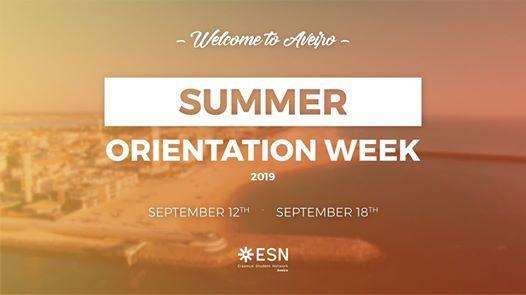 ESN Aveiro  Summer Orientation Week 20192020