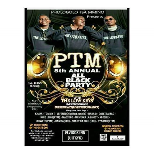 PTM 5th Annual ALLBLACK Party