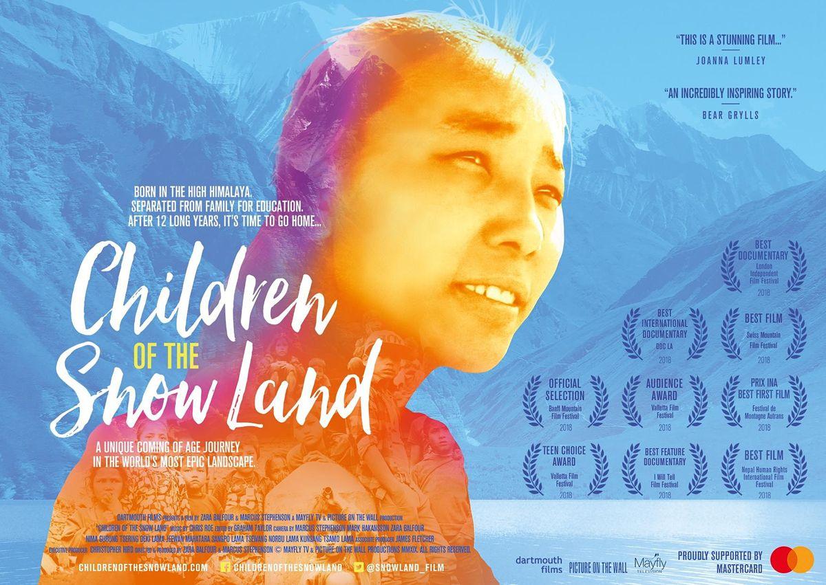 Nepal fundraiser film night  Children of the Snow Land  Adelaide