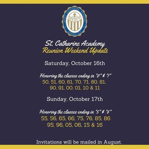 Reunion for Classes ending in 0 5 1 & 6