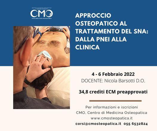 Approccio osteopatico al trattamento del SNA: dalla PNEI alla clinica, 15 October | Event in Florence | AllEvents.in