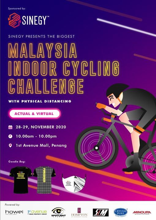 Sinegy Malaysia Indoor Cycling Challenge, 29 November | Online Event | AllEvents.in