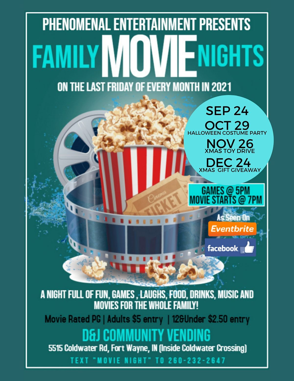 Family Movie Nights | Event in Fort Wayne | AllEvents.in