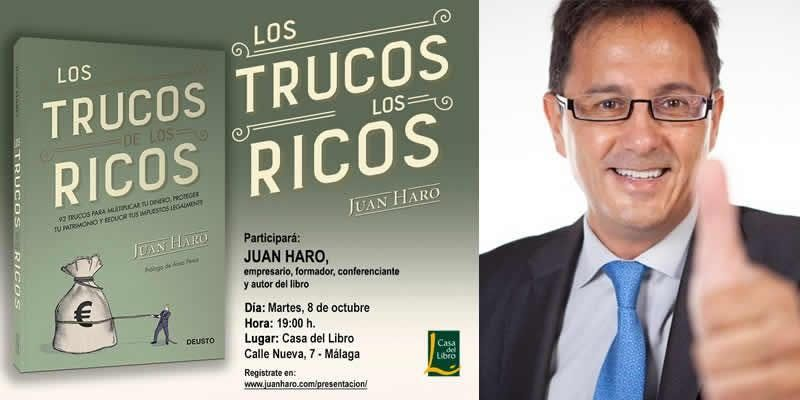Presentacin del libro Los Trucos de los Ricos en Mlaga
