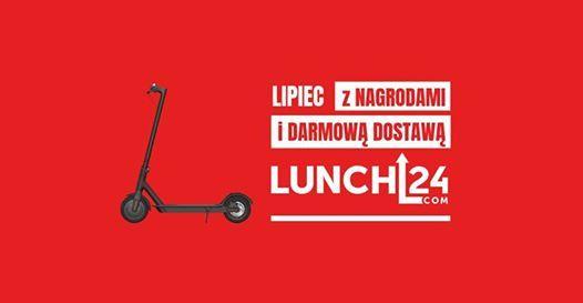 Lipiec z nagrodami i darmow dostaw od LUNCH24.com