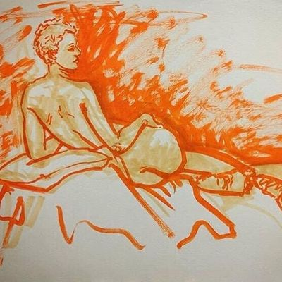 Themed and Classical Figure Drawing with model Ezra Ruli