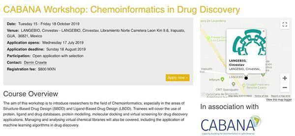 Chemoinformatics in Drug Discovery at LANGEBIO, Cinvestav