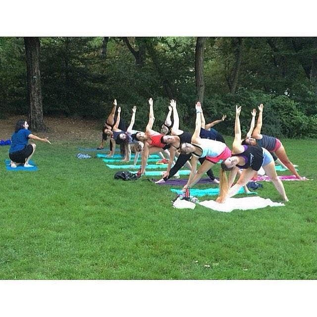 Yoga in Strawberry Fields (Central Park) 10.27.19