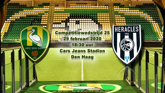 Competitiewedstrijd Ado Den Haag Heracles At Cars Jeans Stadion The Hague