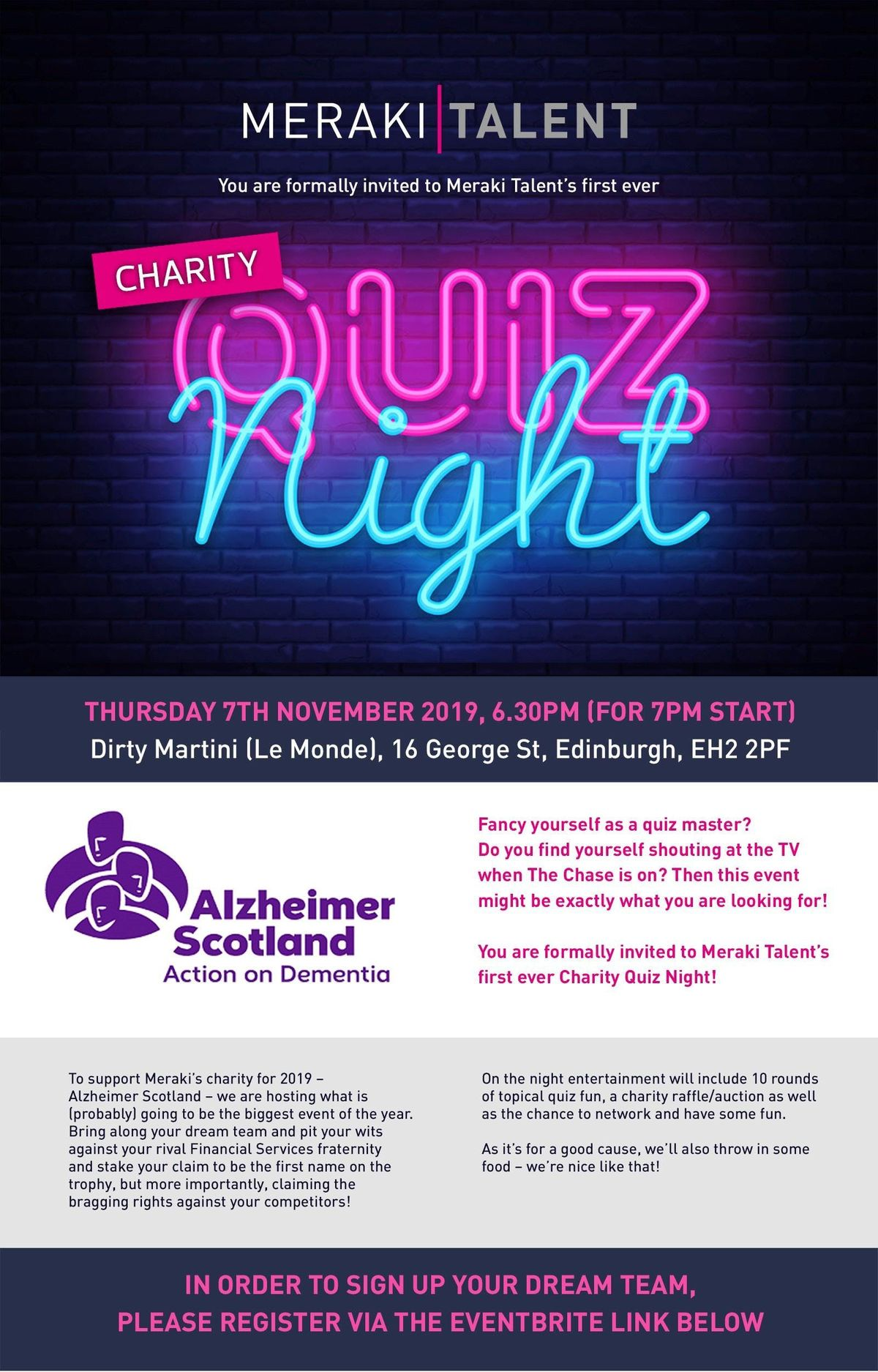 Meraki Talent's Charity Quiz Night