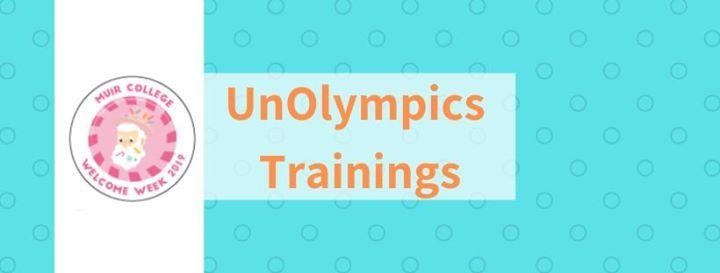 Muir Welcome Week 2019 UnOlympics Trainings