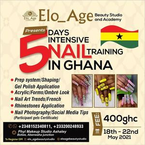 Accra Intensive Nails Training.