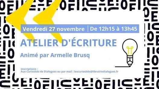 Atelier d'écriture   Event in Brest   AllEvents.in