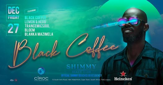 Black Coffee x Shimmy Beach Club