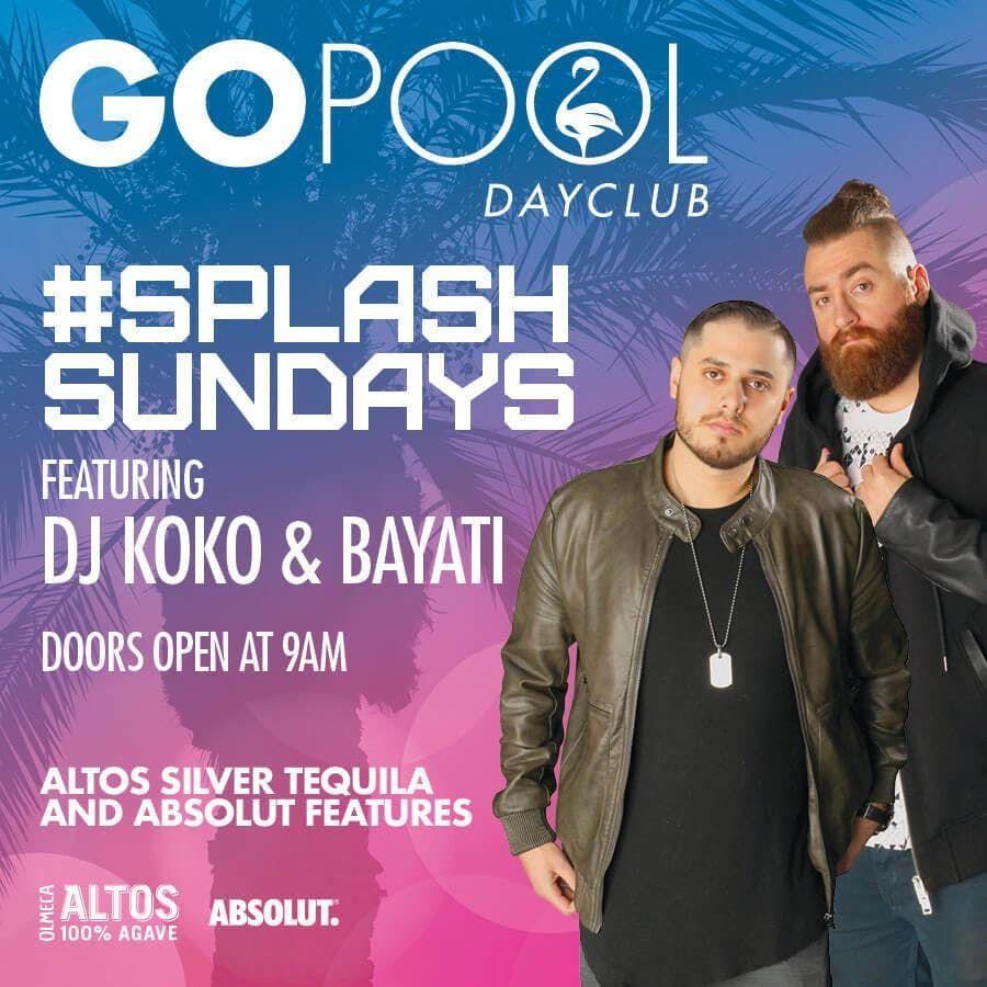 Splash Sundays at Go Pool Free Guestlist - 9222019