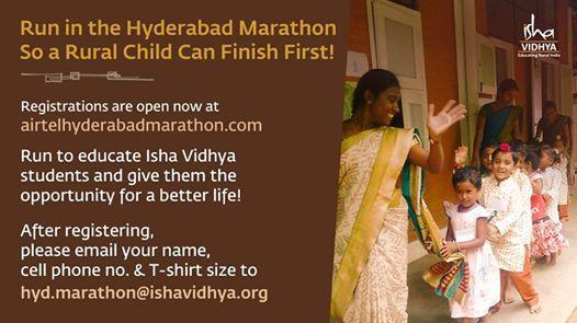Isha Vidhya at Airtel Hyderabad Marathon