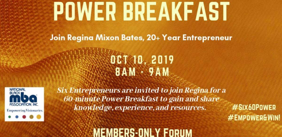 NBMBAA Atl-Chapter: Six-60 Power Breakfast for Entrepreneurs