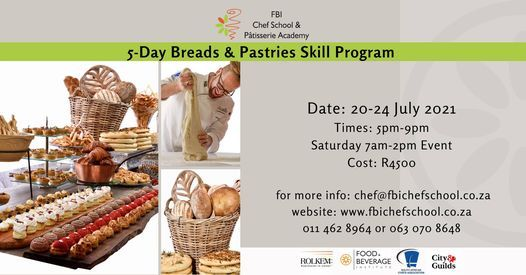5-day Breads & Pastries Skill Program, 20 July   Event in Roodepoort   AllEvents.in