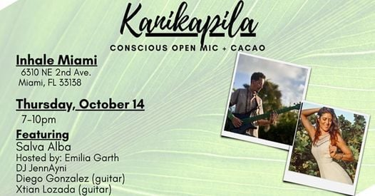Kanikapila Conscious Open Mic + Cacao, 14 October | Event in Miami | AllEvents.in