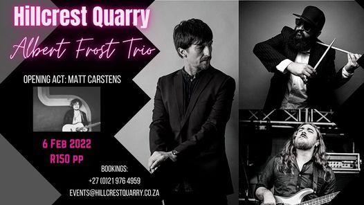 Albert Frost Trio @ Hillcrest Quarry, 17 October | Event in Bellville | AllEvents.in