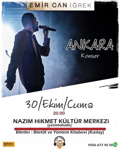 Emir Can İğrek / Sosyal Mesafeli Ankara Konseri, 28 May | Event in Ankara | AllEvents.in