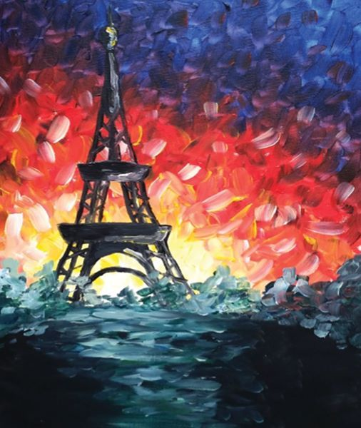 Paint & Wine Night - A Night In Paris