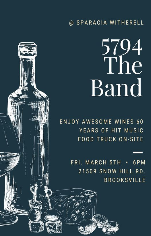 5794 The Band @ Sparacia Witherell Family Winery, 5 March | Event in Brooksville | AllEvents.in