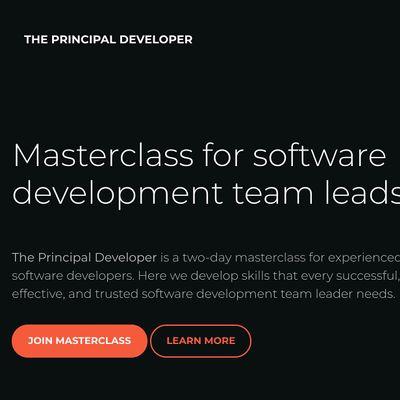 The Principal Developer  Masterclass for software development team leads.
