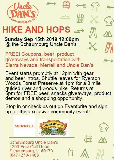Hike and Hops (FREE Beer and Gear Hiking Event) at Uncle