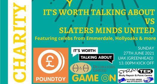 Luke Slater Memorial Football Match #ItsWorthTalkingAboutFC vs Slater, 27 June   Event in Keighley   AllEvents.in
