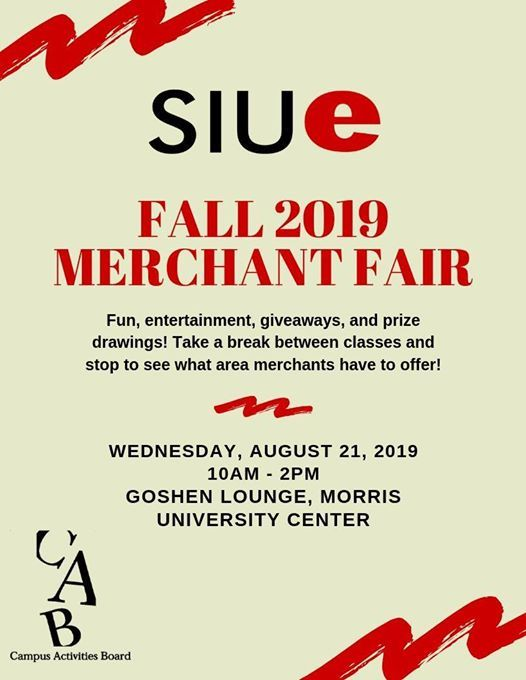 SIUE Merchant Fair at SIUE Campus Activities Board, Edwardsville on